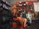 Mechanic shop used for homosexual bear sex