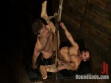 Marc Dylan is bound, beaten and screwed for the 1st time on Fastened God