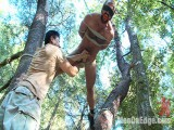 Tied Gods Dominant Josh West Gets Edged Unfathomable in the Woods