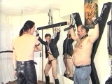 Homo S&M with intense nip play, spanking and humiliation