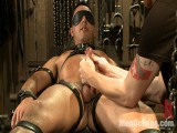 Ripped straight hunk with a bulky uncircumcised jock tied for the 1st time.