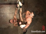 A helpless vagrant gets hosed down and drilled by the creepy handyman