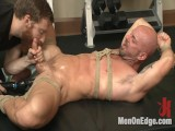 Exotic handyman has his way with a hot muscle god at the gym