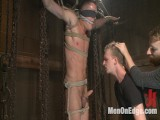 Munch boy wakes up to discover himself in a crucified edging