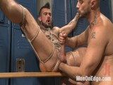 Cruising for Weenie – Muscled pecker gets tied up & fisted in the showers