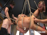 9 in penis edged in mid-air & has the cum drained from his aching balls