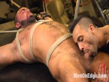 Strong mechanic taken down & edged against his will